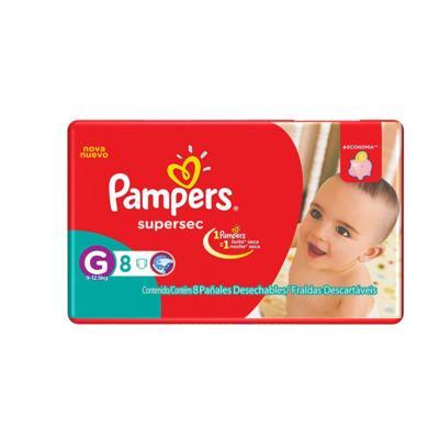 Fralda Pampers Supersec - G   8 unidades