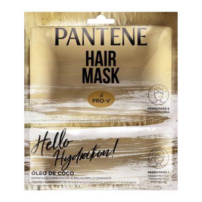 Máscara De Tratamento Pantene - Hidratação | 2 unidades | Sachê + Touca