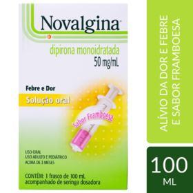 Novalgina - 50mg | 100mL | com seringa dosadora
