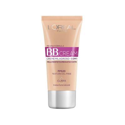 Base BB Cream  5 em 1 FPS20 - Cor Clara   30ml
