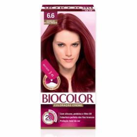Tinta de Cabelo Biocolor - Vermelho Intenso Vibrante 6.6 | 1 unidade