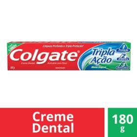 Creme Dental Colgate - Tripla Ação Menta Original | 180g