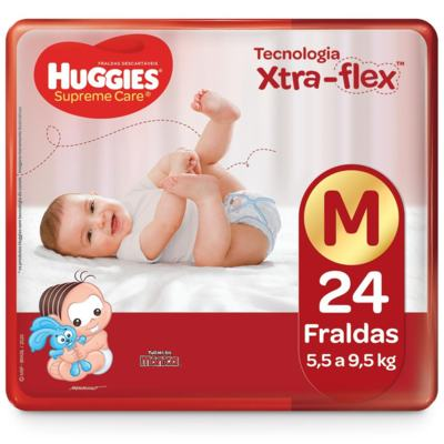 Fralda Huggies Supreme Care - M | 24 unidades