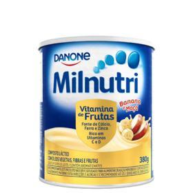 Composto Lácteo Milnutri - Vitamina de Frutas Sabor Banana E Maçã | 380g