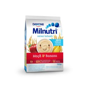 Cereal Infantil Milnutri - Banana e Maçã Zero | 150g