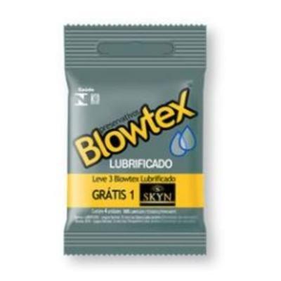 Preservativo Blowtex - Lubrificado | 3 unidades | Grátis 1 Skyn