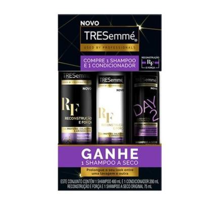 Kit Shampoo Tresemme Reconstrução E Força+Condicionador 200ml Ganhe Shompoo A seco - Reduz a Quebra | 675ml
