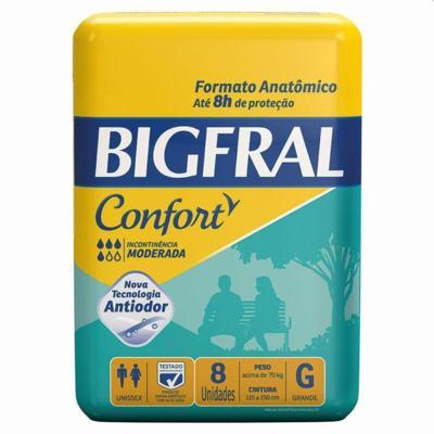 Fralda Geriátrica Bigfral Confort - G | 8 unidades