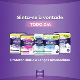 Protetores Diários Always - Com Perfume   40 unidades