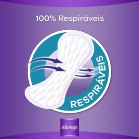 Protetores Diários Always - Respirável | 40 unidades
