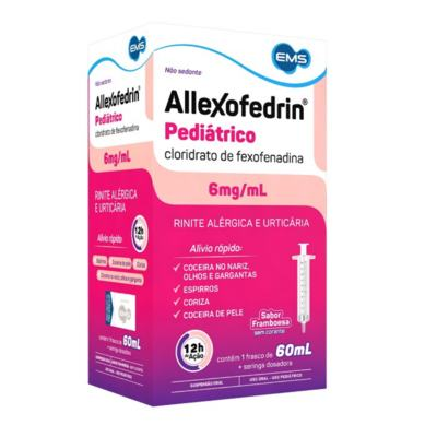 Allexofedrin Suspensão Oral Infantil - 6mg   60ml