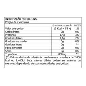 Triptofano - 860mg | 60 cápsulas
