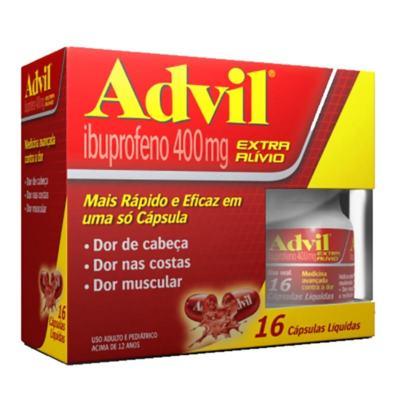 Advil Extra Alívio - 400mg | 16 cápsulas líquidas