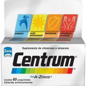 Suplemento de Vitaminas e Minerais Centrum - 60 comprimidos