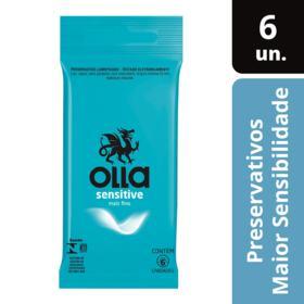 Preservativo Camisinha Olla Sensitive - Sensitive   6 unidades