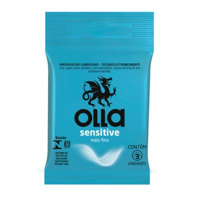 Preservativo Camisinha Olla - Sensitive | 3 unidades