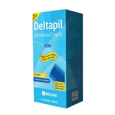 Deltapil Loção - 0,20mg/mL   caixa com 1 frasco com 100mL de loção de uso capilar