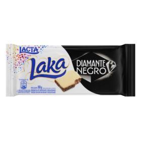Barra de Chocolate ao Leite e Branco Lacta - Laka e Diamante Negro   90g