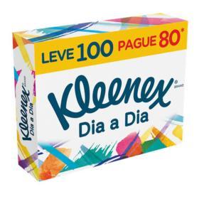 Lenço de Papel Kleenex Box - Original   100 unidades   Leve 100 Pague 80