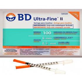 Seringa Insulina Ultra-Fine - Com Agulha Curta | 10 unidades