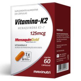 Vitamina K2 Maxinutri - 125mcg   60 cápsulas
