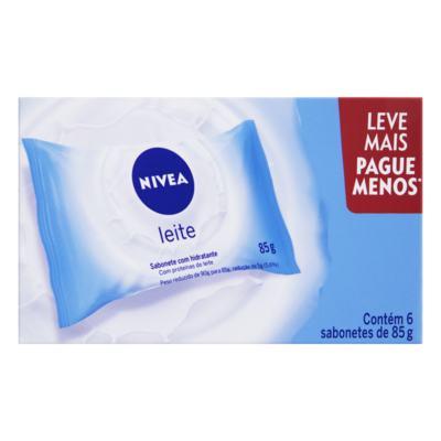 Sabonete Nivea - Proteína do Leite | 6 Unidades com 85g Cada | Leve Mais Pegue Menos