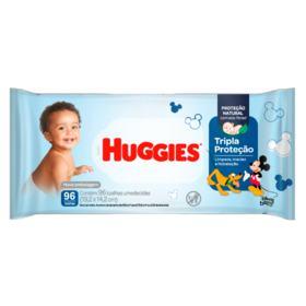 Lenços Umedecidos Huggies - Tripla Proteção | 96 unidades