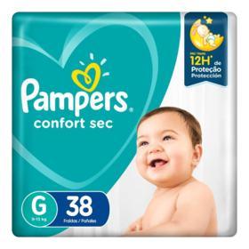 Fralda Pampers Confort Sec - G | 38 unidades