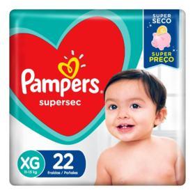 Fralda Pampers Supersec - XG | 22 unidades