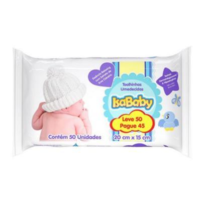Lenço Umedecido IsaBaby - azul   pacote com 50 unidades   leve 50 e pague 45 unidades