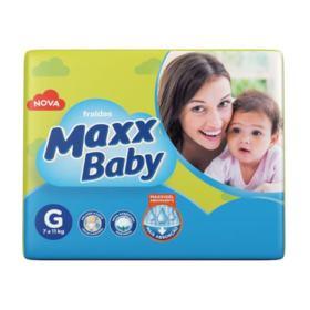 Fralda Descartável Maxx Baby Prática - Tamanho G | 20 unidades