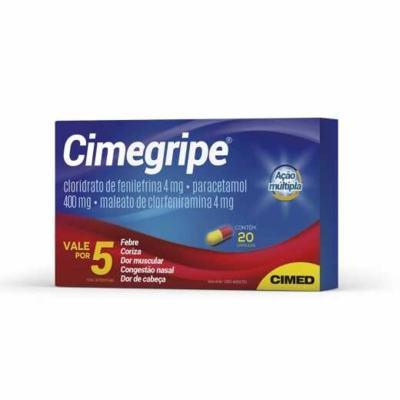 Cimegripe - 400mg + 4mg + 4mg | 20 cápsulas