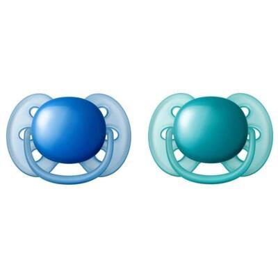 Chupeta Philips Avent Ultra Soft Azul - 6 a 18 meses | 2 Unidades