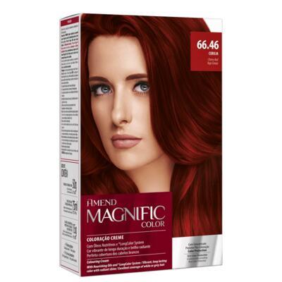 Coloração Creme Amend Magnific Color - 66.46 Cereja | 1 Kit
