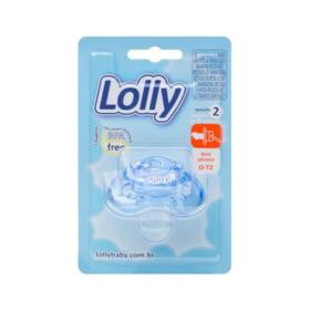 Chupeta Lolly Baby Oceano Master - Silicone Ortodôntico N2 Azul   1 unidade