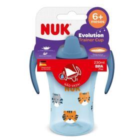 Copo Evolution Trainer Com Alça Azul Nuk - +6 Meses | 230ml