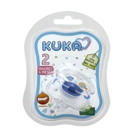 Chupeta Kuka Premium Ortodôntica - N2, azul | 1 unidade