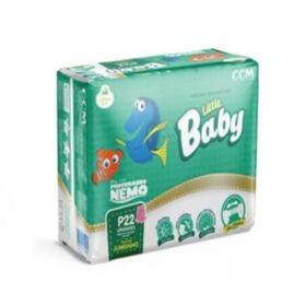 Fralda Descartável Little Baby Nemo Jumbinho - Tamanho P   22 unidades