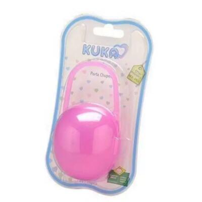 Porta Chupeta Kuka - com alça, cor rosa   1 unidade