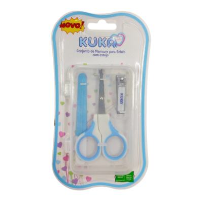 Kit Manicure Para Bebê Kuka - Azul