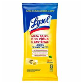 Lenço Desinfetante Lysol - poder cítrico   36 unidades