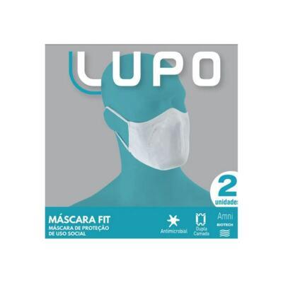 Lupo Máscara Tecido Dupla Fit - Branca | 2 unidades