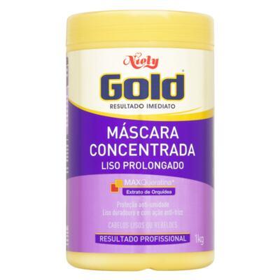 Máscara Capilar Concentrada Niely Gold - Liso Prolongado   1Kg