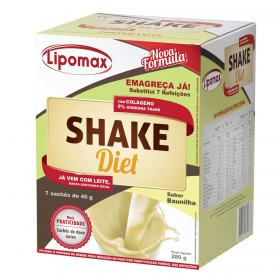 Lipomax Shake Diet Baunilha 406g