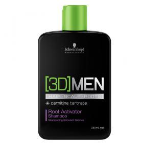 Schwarzkopf 3D Men - Shampoo Ativador de Raízes - 250ml