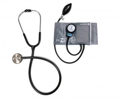Aparelho de Pressão com Estetoscópio Master Standard Inox Cinza CJ0833 Bic