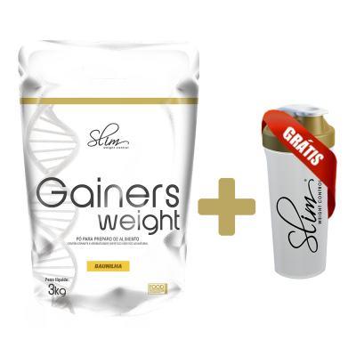 Gainers Weight Refil 3k - Slim - Baunilha Gratis Uma Coqueteleira. -