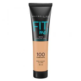 Fit Me! Maybelline - Base Líquida para Peles Claras - 100 - Claro