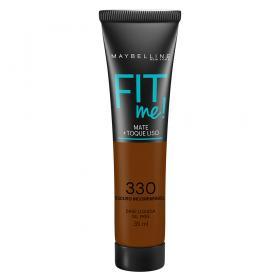 Fit Me! Maybelline - Base Líquida para Peles Escuras - 330 - Escuro Incomparável