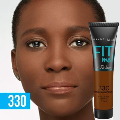 Imagem 3 do produto Fit Me! Maybelline - Base Líquida para Peles Escuras - 330 - Escuro Incomparável